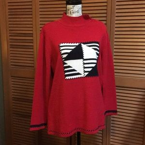 Red Nautical Theme Sweater